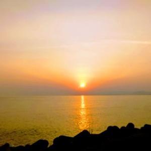志賀島で見た日の出
