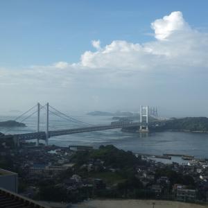 鷲羽山から見る8月の瀬戸大橋