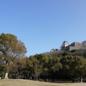 丸亀城の崩落個所