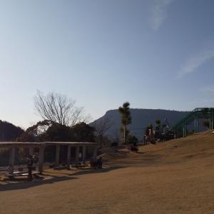 石匠の里公園の遊具の中