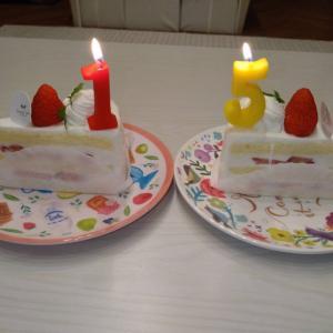 ケーキとザンギで結婚記念日