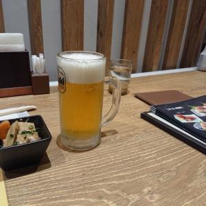 上野駅構内のお食事処で1杯