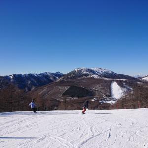 今シーズン3回目の湯の丸スキー場