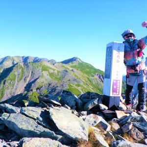 登りには使いたくない大門沢ルートから百高山狙い~白峰南稜歩き③