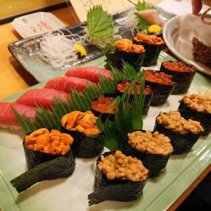 またまたグルメレポ~松茸からの寿司