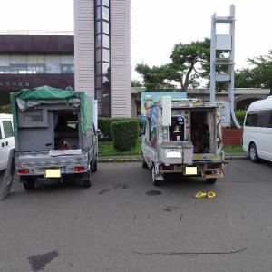 2018/9/25「道の駅YOU・遊・もり」自作軽キャン界の大御所に会いました。