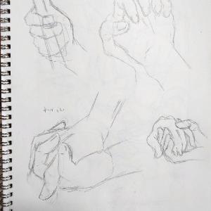 手の練習4日目・5日目【簡潔・持つ】