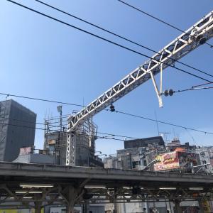 神田駅ホームから見えた、夏。