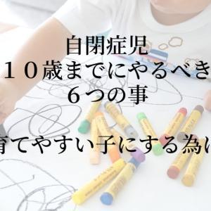 自閉症児10歳までにやるべき6の事【育てやすい子にする為に】