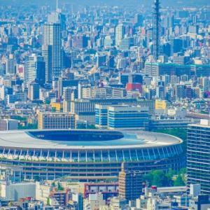 77☆千駄ヶ谷駅から新国立競技場を眺める