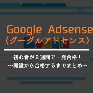 【Googleアドセンス】ブログ初心者が運営開始2週間で審査に一発合格!合格までの経緯まとめ