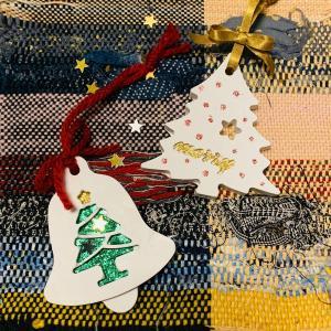 アロマストーンのクリスマス飾り【石膏クラフト】