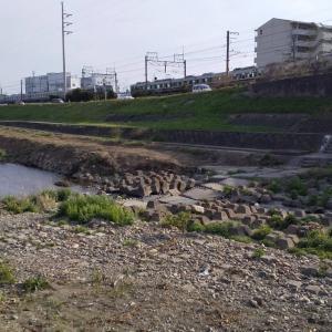 猪名川(川西側)を南へ行く①