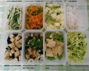 雪を見ながら、作り置き副菜8種