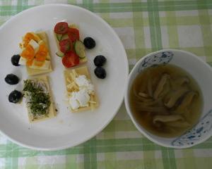 糖質制限中にもお勧め、高野豆腐のオープンサンド