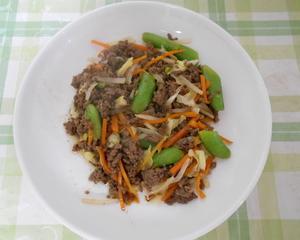 ひき肉と野菜のオイスターソース炒め煮
