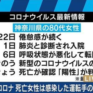 【新型肺炎コロナウィルス 】日本の感染者数200名突破!ついに日本人死亡者も~