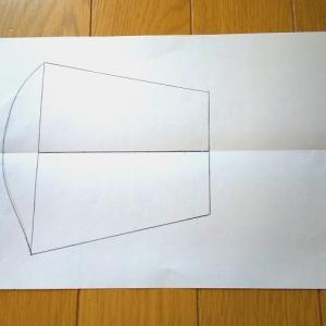 手作り立体マスク型紙の作り方(オーダーメイド)