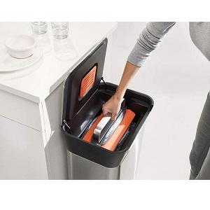 あさイチ|押して圧縮するゴミ箱