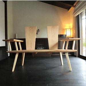 BSイッピン 宮崎の木工品木のベンチ
