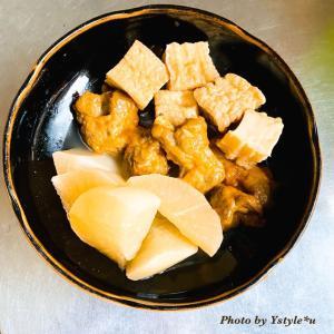 素朴な煮物と鯛の味噌汁
