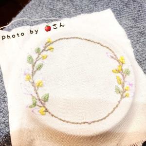娘が刺繍を始めました(*´-`)