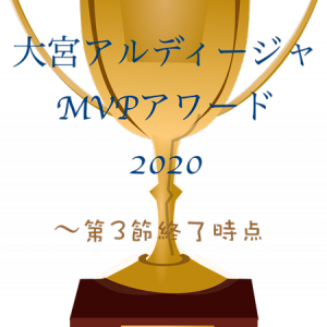 【第3節終了時点】大宮アルディージャMVPアワード2020 +お詫びとお知らせ