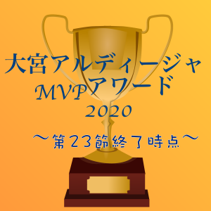 【第23節終了時点】大宮アルディージャMVPアワード2020