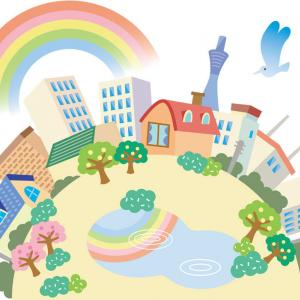 パズコレ記録 虹の架かる街