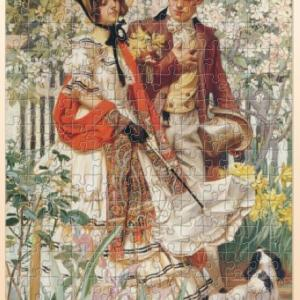 パズコレ記録 J・C・ライエンデッカー 「庭園の散歩」