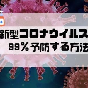 新型コロナウイルスを99%予防する方法!