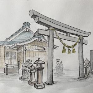 久遠郡 太田神社拝殿