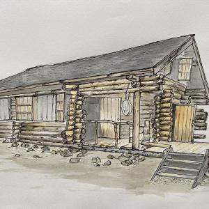 富良野市 「北の国から」ロケ地 黒板五郎の丸太小屋