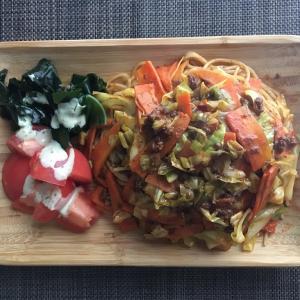 残り野菜のミートソース