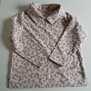 遊布工房のパターンの衿つきブラウスを縫いました。自分に合うパターンとサイズが分かってきました。