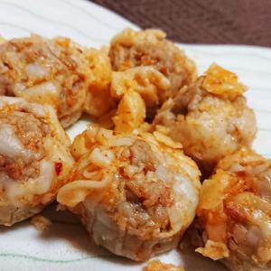 ピリ辛が美味い「麻辣醤が決めて!おつまみ焼売」を食べてみる