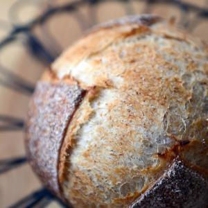 自家製ライ麦粉酵母のカンパーニュ