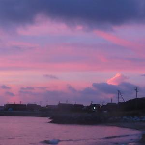 砂浜で夕空撮影・・・・ タイムスリップ ~ 私の初恋は・・・・  Part2