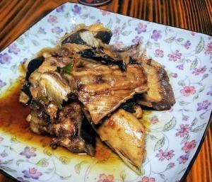 鰤のアラ煮とあっさり野菜