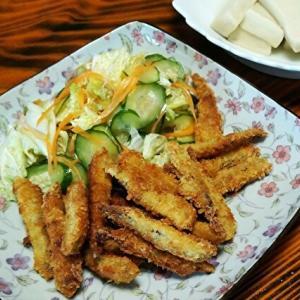 きびなごフライと白菜のサラダ