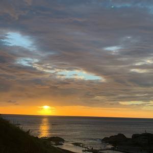 海に沈む夕日が見たいねー