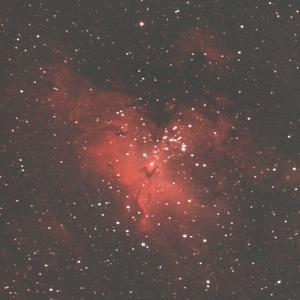 高松の星空 星の生まれる「わし星雲・創造の柱」