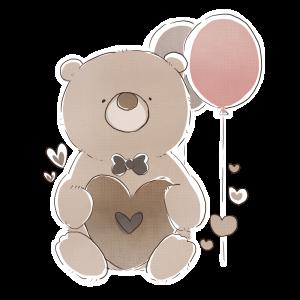 【フリー画像】バレンタイン・チョコ色のくま1