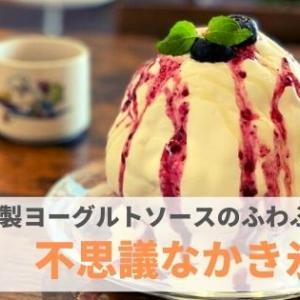 『不思議なかき氷』特製ヨーグルトソースが美味しい!ふわふわ氷