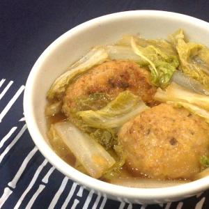 【レシピ】大きい肉団子の中華風煮込み鍋(獅子頭)