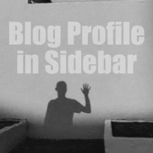 【WordPress】サイドバーにプロフィールを簡単に設置する方法