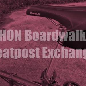ミニベロ小径自転車DAHON Boardwalk D7のシートポストをMicrOHEROへ交換