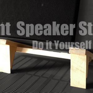 5.1chホームシアターのフロントスピーカー用スタンドを無いものは作るDIY精神で自作してみた!