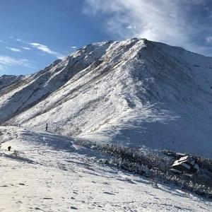 初雪の北アルプス