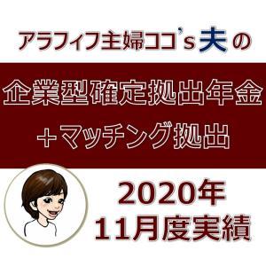 【企業型確定拠出年金+マッチング拠出】2020年11月度実績を公開